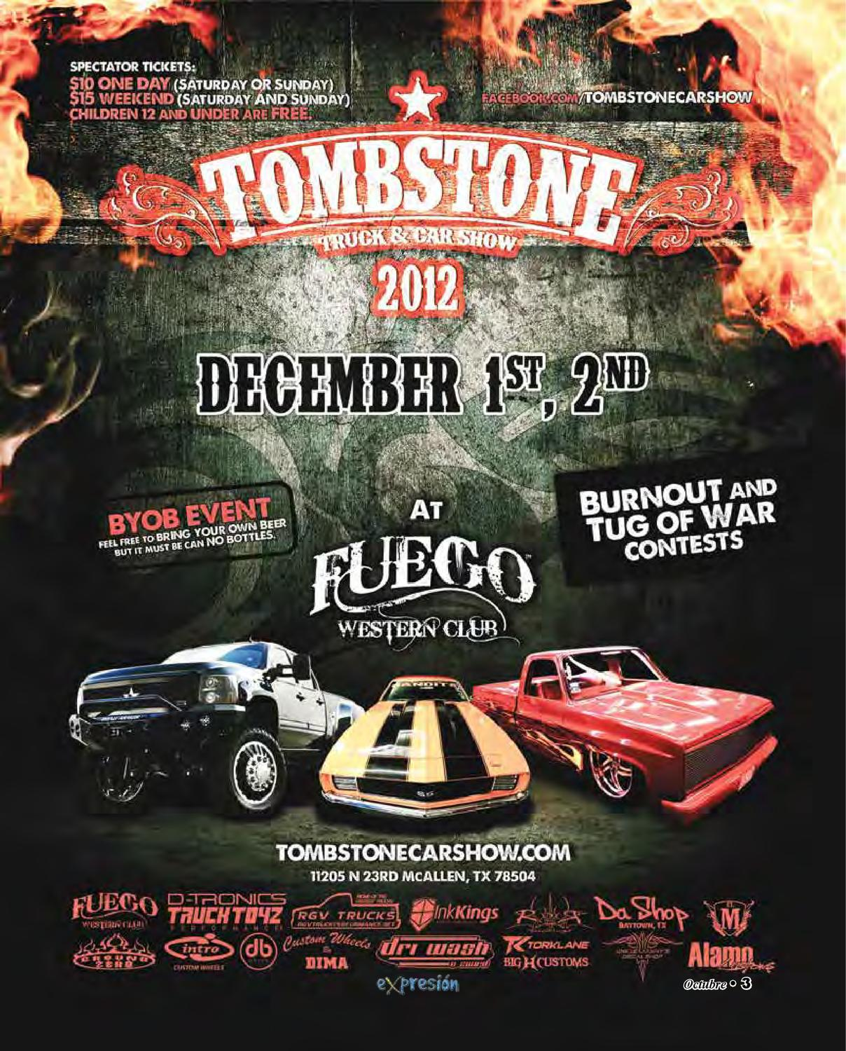 TOMBSTONE Truck Car Show Top Box TicketsTOMBSTONE Truck - How much are the tickets for the car show