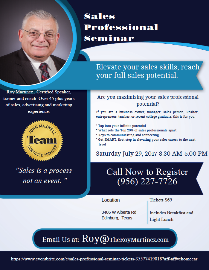 Roy sales seminar july 29