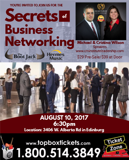 Secrets of Networking Flyer Aug 2017
