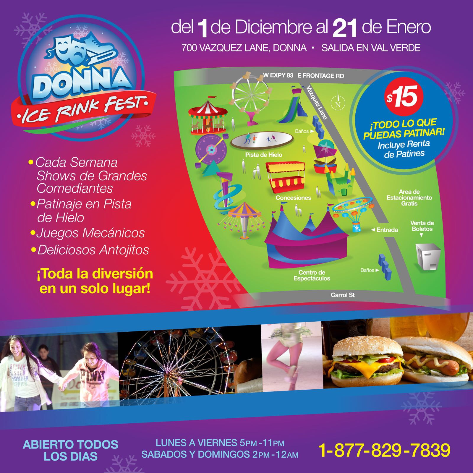 Donna Ice Rink Rides Layout