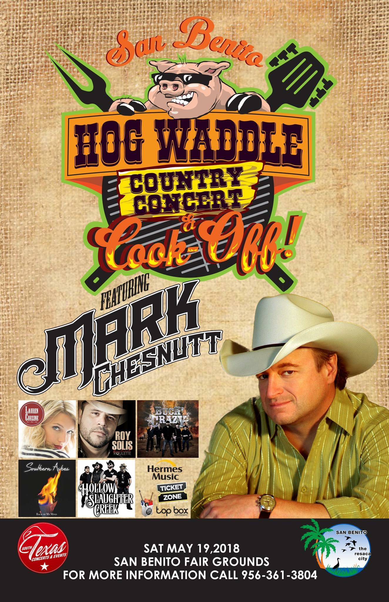 San Benito Hog Waddle; Mark Chestnutt poster